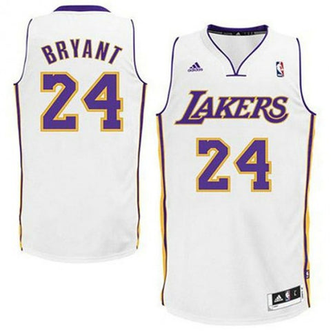 LA Lakers Kobe Bryant #24 Swingman Road Jersey - Sunday White