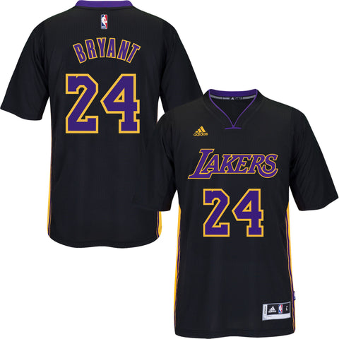 LA Lakers Kobe Bryant #24 Hollywood Night Black Jersey Sleeve