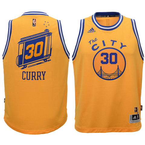 Stephen Curry #30 Golden State Warriors Hardwood Classic Swingman Jersey - Gold