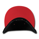 ( More Color ) Blank Plain 6panel Black/Grey/Red/Blue 2tone Baseball Hat Round Flat Bill Snapback Cap