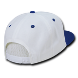 ( More Color ) Blank Plain 6panel 2tone Baseball Hat Round Flat Bill Snapback Cap