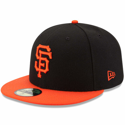 New Era 59fifty MLB On Field Fitted Hat Cap - San Francisco Giants Road