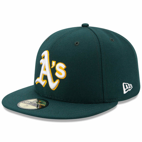 New Era 59fifty MLB On Field Fitted Hat Cap - Oakland Athletics Road