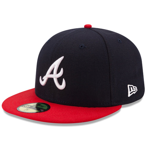 New Era 59fifty MLB On Field Fitted Hat Cap - Atlanta Brave Home