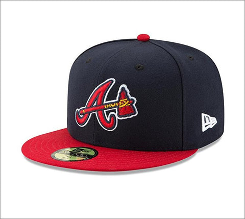 New Era 59fifty MLB On Field Fitted Hat Cap - Atlanta Brave Alternate