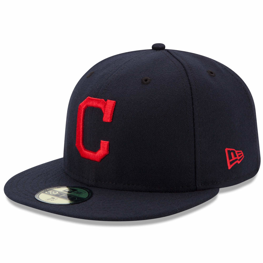 the latest b7079 c4797 ... coupon new era 59fifty mlb on field fitted hat cap cleveland indians  road 1353c da481