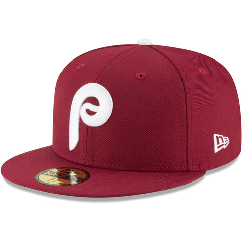 New Era 59fifty MLB On Field Fitted Hat Cap - Philadelphia Phillies Coopertown