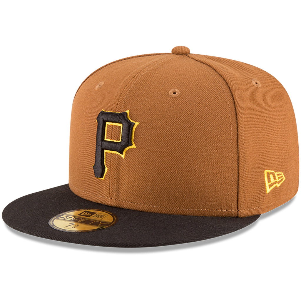 ee1320f73f New Era 59fifty MLB On Field Fitted Hat Cap - Pittsburgh Pirates Alternate  Gold