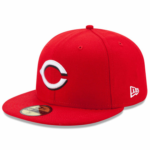 New Era 59fifty MLB On Field Fitted Hat Cap - Cincinnati Reds Home
