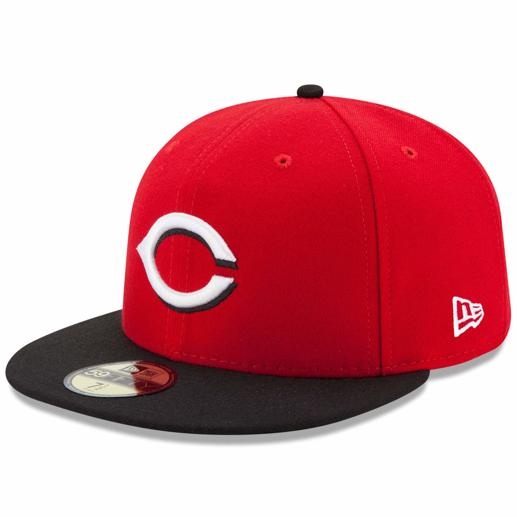 9890b6ea0b811 New Era 59fifty MLB On Field Fitted Hat Cap - Cincinnati Reds Road ...