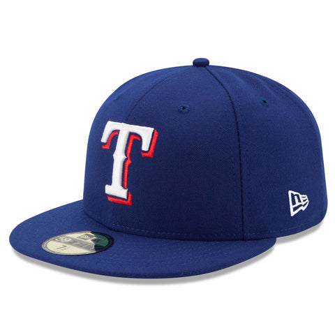 New Era 59fifty MLB On Field Fitted Hat Cap - Texas Rangers Home