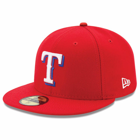 New Era 59fifty MLB On Field Fitted Hat Cap - Texas Rangers Alternate
