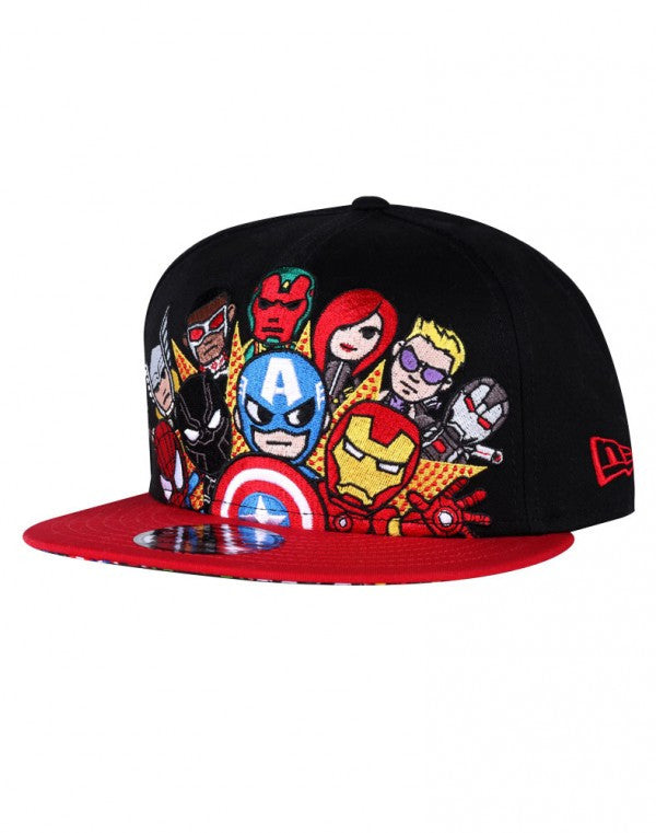 competitive price 1593d 2c0e9 ... clearance new era 59fifty tokidoki marvel civil war black red snapback  hat cap 1aaee 85b7c