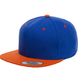 ( More Color ) Yupoong Classic 6089M 2Tone Wool Flat Bill Blank Baseball Hat Plain Snapback Cap