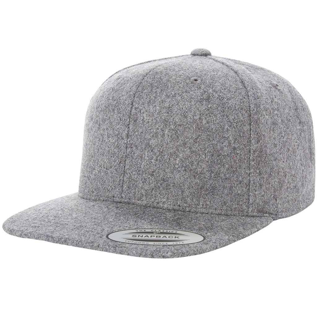 ( More Color ) Yupoong Classic Heather Melton Wool Blank Baseball Cap  Snapback Hat d219c52722c