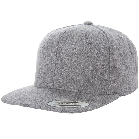 ( More Color ) Yupoong Classic Heather Melton Wool Blank Baseball Cap Snapback Hat