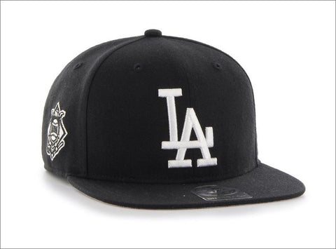 47' Brand Sure Shot Captain Snapback Hat - Los Angeles Dodgers Black White