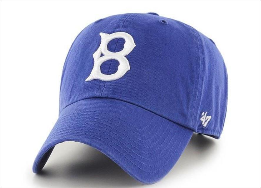 Brooklyn Dodgers Dad Hat Blue 47  Brand MLB Cleanup Unstructured Baseball  Cap 120ac3d4a80