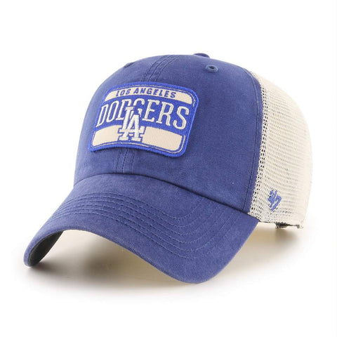 47' Brand MLB Fluid LA Dodgers Dad Hat Unstructured Trucker Mesh Cap