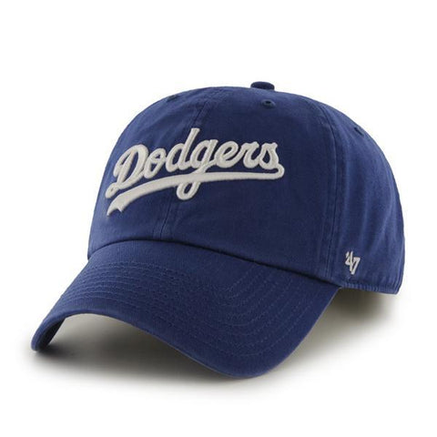 LA Dodgers Wordmark Script Dad Hat 47' Brand MLB Cleanup Unstructured Baseball Cap