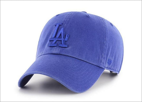LA Dodgers Dad Hat Tonal Blue 47' Brand MLB Cleanup Unstructured Baseball Cap