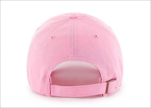 LA Dodgers Dad Hat Rose Pink White 47' Brand MLB Cleanup Unstructured Baseball Cap