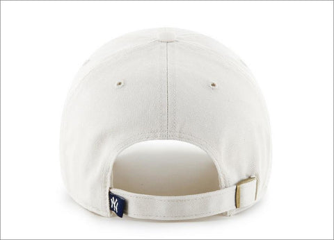 210c59211fe New York Yankees Dad Hat White Navy Blue 47  Brand MLB Cleanup Unstructured  Baseball Cap
