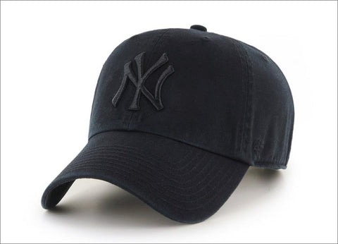 New York Yankees Dad Hat Black 47' Brand MLB Cleanup Unstructured Baseball Cap