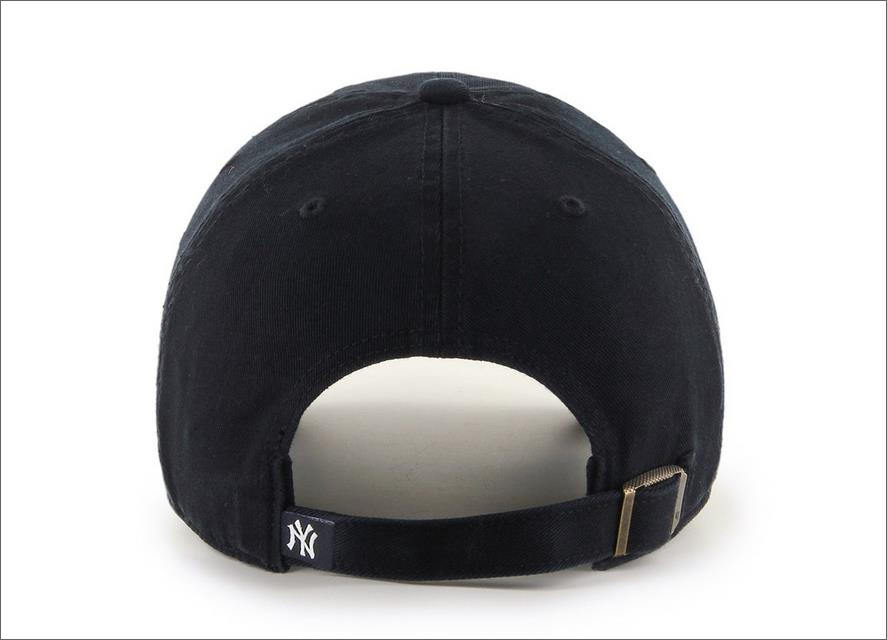 f7a4947a New York Yankees Dad Hat Black White 47' Brand MLB Cleanup Unstructured  Baseball Cap