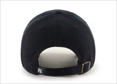 New York Yankees Dad Hat Black White 47' Brand MLB Cleanup Unstructured Baseball Cap