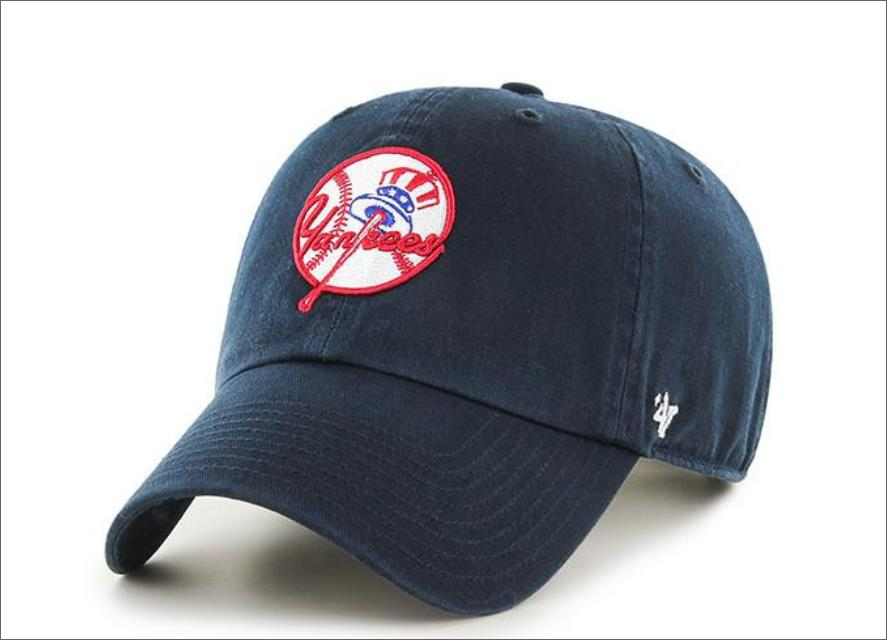 fb8349e39f5 New York Yankees Cooperstown Dad Hat Navy Blue 47  Brand MLB Cleanup  Unstructured Baseball Cap