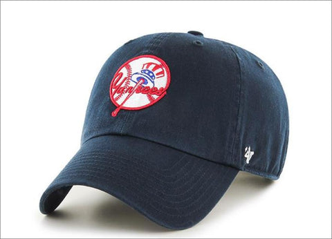 New York Yankees Cooperstown Dad Hat Navy Blue 47' Brand MLB Cleanup Unstructured Baseball Cap