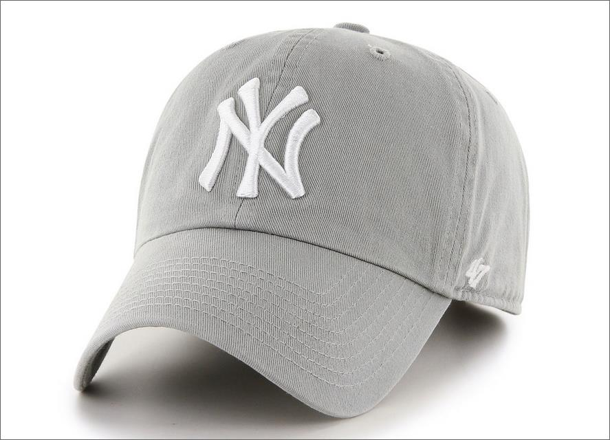 New York Yankees Dad Hat Grey White 47  Brand MLB Cleanup Unstructured  Baseball Cap 54c670ee466