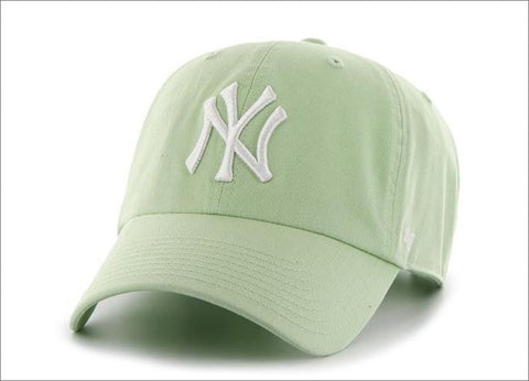 New York Yankees Dad Hat Mint Green White 47' Brand MLB Cleanup Unstructured Baseball Cap