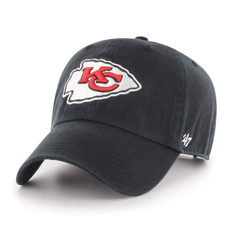 47' Brand NFL Cleanup Kansas City Chiefs Dad Hat Unstructured Baseball Cap Black