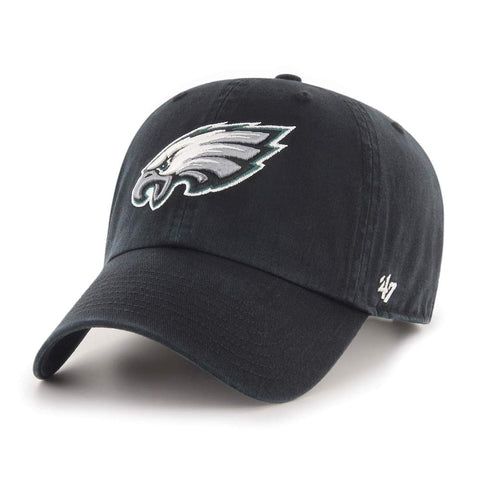 47' Brand NFL Cleanup Philadelphia Eagles Dad Hat Unstructured Baseball Cap Black