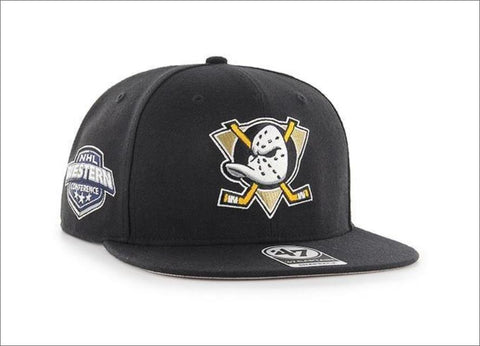 47' Brand Sure Shot Captain Snapback Hat - Mighty Ducks Black