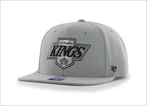 47' Brand Sure Shot Captain Snapback Hat - Los Angeles Kings Grey
