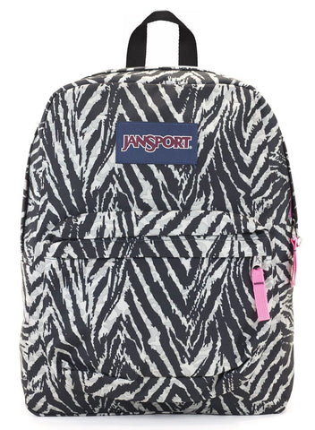 Jansport SuperBreak Backpack ( T501 )  - Grey Tar Wild at Heart