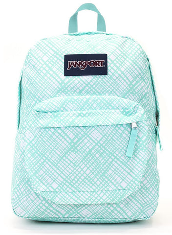 Jansport SuperBreak Backpack ( T501 ) - Aqua Dash Jagged Plaid