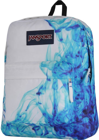Jansport SuperBreak Backpack ( T501 ) - Multi Blue Blue Drip Dye
