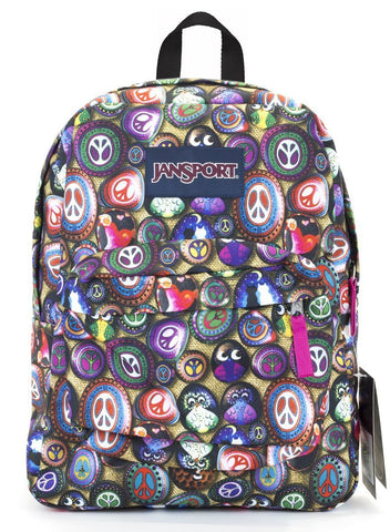 Jansport SuperBreak Backpack ( T501 ) - Multi Painted Stones