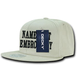 Custom Embroidery Hat Cotton Decky Personalized Flat Embroidery Snapback Caps