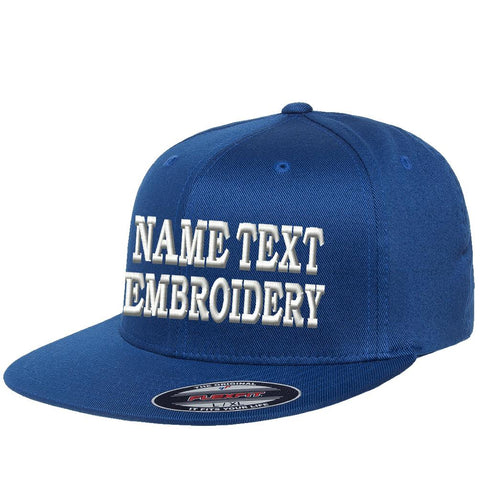 Custom Embroidered Hat Flexfit Pro On-Field Personalized Text Embroidery Size Fitted Cap