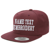 Custom Embroidered Hats Flat Bill Yupoong Personalized Flat Embroidery Snapback Caps