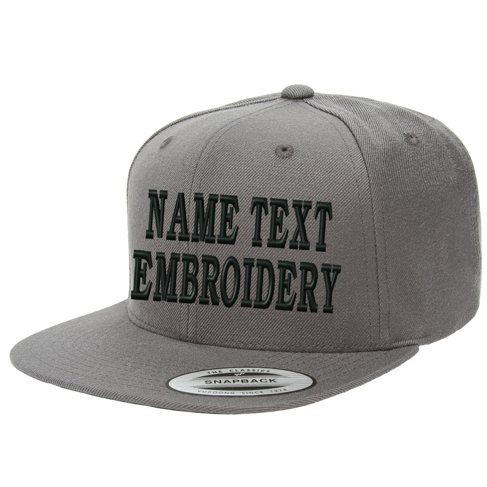5e48ceb2875 Custom Embroidery Snapback Hats Flat Bill Yupoong 6089 Embroidred ...