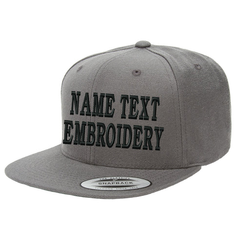 Custom Embroidred Hats Flat Bill Yupoong Personalized Snapback Caps