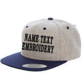 Custom Embroidered Hats Flat Bill Yupoong Personalized Embroidery Snapback Caps
