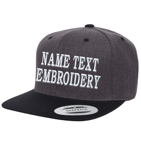Custom Embroidery Snapback Hats Flat Bill Yupoong 6089 Embroidered