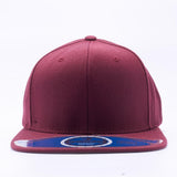 ( More Color ) Solid Color Premium Wool Semi Square Flat Bill Blank Baseball Cap Snapback Hat